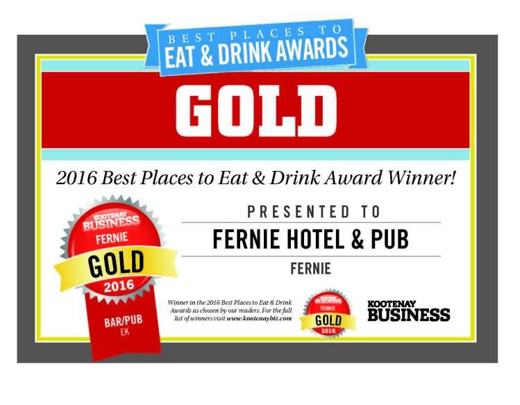 Kootenay Business Gold 2016
