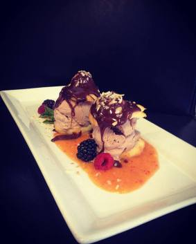 Profiteroles for dessert!