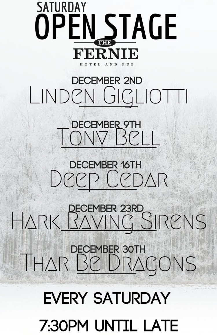 Dec 2017 Line Up