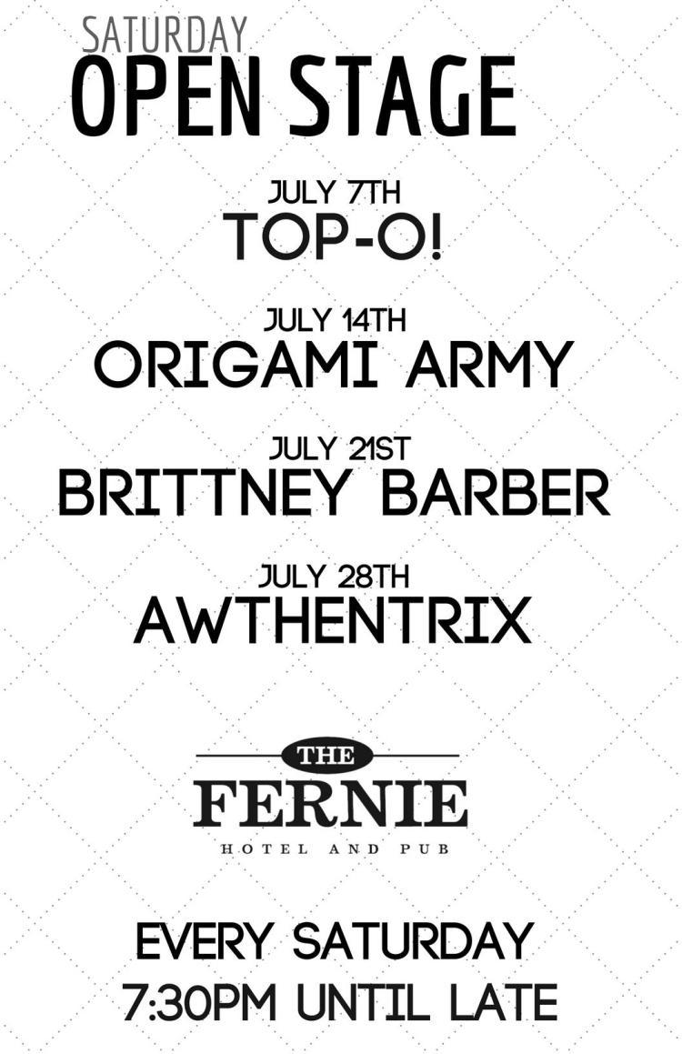 July line up