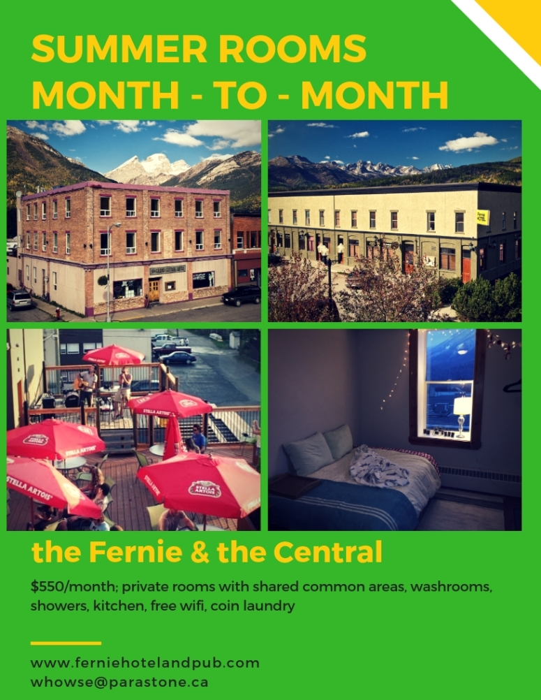 Summer monthly accommodation ad