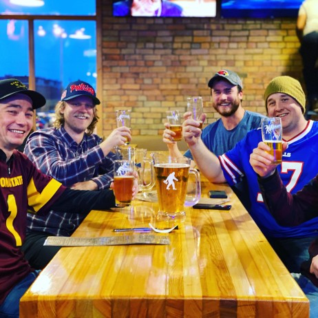 Reno finishing touches boys drinking